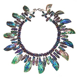 paua leaves necklace